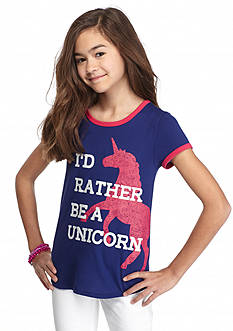 J Khaki™ 'I'd Rather Be A Unicorn' Printed Top Girls 7-16