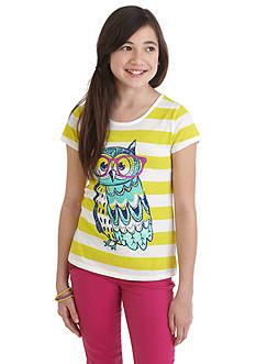 J Khaki™ Owl Stripe Top Girls 7-16