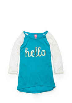 J Khaki™ 'Hello' Baseball Top Girls 7-16