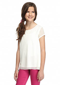 J Khaki™ Solid Trapeze Top Girls 7-16