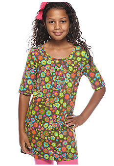 J Khaki Pleated Front Knit Tunic Girls 7-16