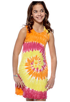 J Khaki Tie Dye Ruffle Dress Girls 7-16