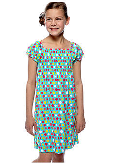 J Khaki Smock Dot Dress Girls 7-16