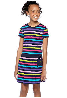J Khaki Stripe Dress Girls 7-16