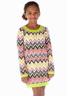 J Khaki™ Chevron U-Neck Dress Girls 7-16