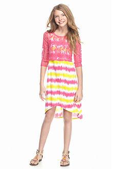 J Khaki™ High Low Popover Stripe Maxi Dress Girls 7-16