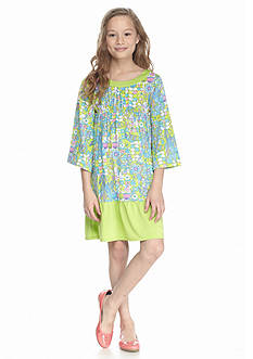 J Khaki™ Printed Bell Sleeve Empire Dress Girls 7-16