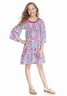 J Khaki™ Printed Bell Sleeve Empire Dress Girls 7-16