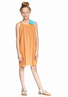 J Khaki™ Sleeveless Woven Flower Applique Dress Girls 7-16