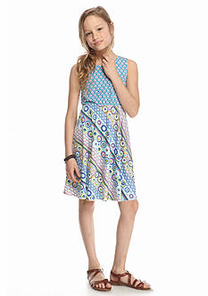 J Khaki™ Sleeveless Print Dress Girls 7-16