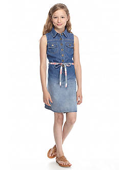 J Khaki™ Sleeveless Denim Dress Girls 7-16