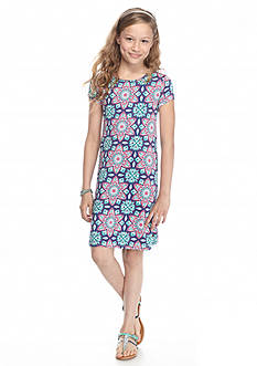 J Khaki™ Printed Trapeze Dress Girls 7-16