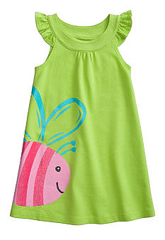 J Khaki Bee Dress Girls 4-6X