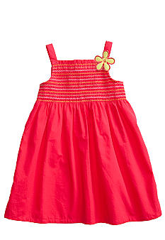 J Khaki Smocked Top Dress Girls 4-6X