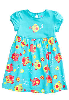 J Khaki Fish Print Dress Girls 4-6x