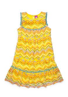 J Khaki™ Flip Flop Chevron Print Chiffon Dress Girls 4-6x
