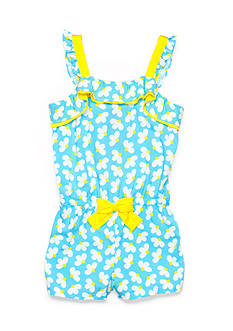 J Khaki™ Daisy Print Romper Girls 4-6x