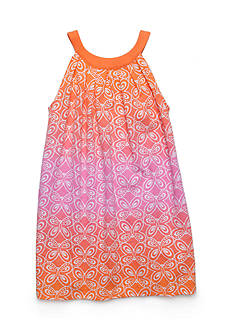 J Khaki™ Butterfly Print Dress Girls 4-6x