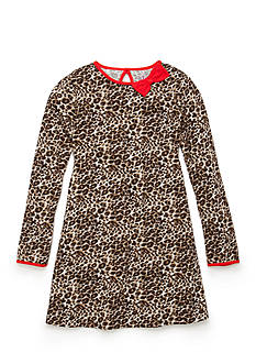 J Khaki™ Animal Print Dress Girls 4-6X