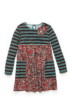 J Khaki™ Paisley Striped Dress Girls 4-6X
