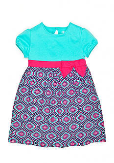 J Khaki™ Flower Medallion Knit Dress Girls 4-6x