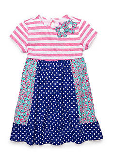 J Khaki™ Dot Stripe Knit Dress Girls 4-6x