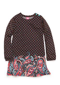 J. Khaki Printed Paisley Dress Girls 4-6x