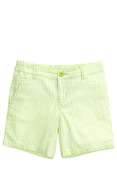 J Khaki Seersucker Bermuda Short Girls 7-16