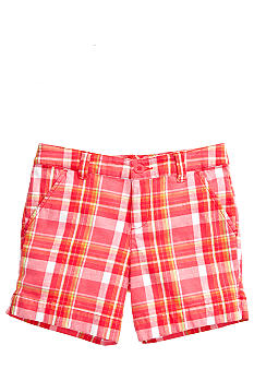 J Khaki Plaid Bermuda Short Girls 7-16