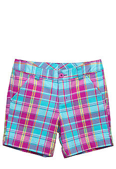 J Khaki Plaid Bermuda Girls 7-16