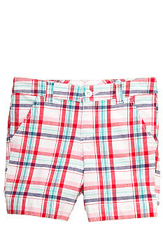 J Khaki Plaid Bermuda Shorts Girls 7-16