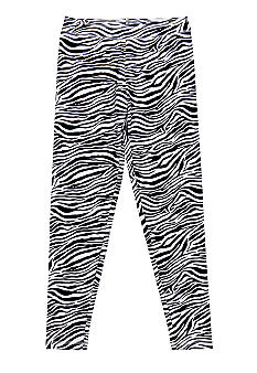 J Khaki Zebra Printed Legging Girls 7-16