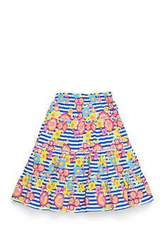 J Khaki™ Stripe and Floral Print Skirt Girls 7-16