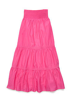 J Khaki™ Solid Tiered Maxi Skirt Girls 7-16