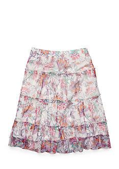 J Khaki™ Floral Print Mesh Prairie Skirt Girls 7-16