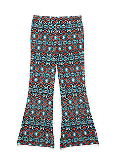 J. Khaki Flare Geo-Print Pants