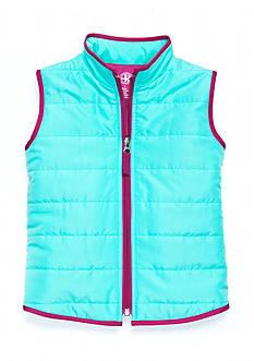 J. Khaki Solid Puffer Vest Girls 4-6X