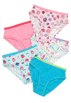J Khaki 5-Pack Printed Panty Girls 4-16