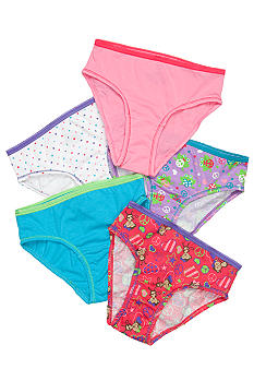 J Khaki Monkey & Frog 5-Pack Panty Girls 4-16