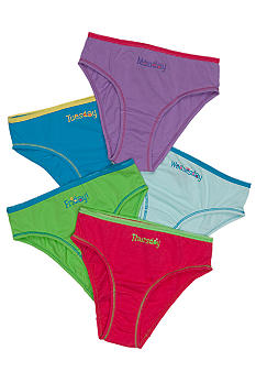 J Khaki Weekdays 5-Pack Panty Girls 4-16