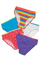 J Khaki™ Neon 5-Pack Panty Girls 4-16