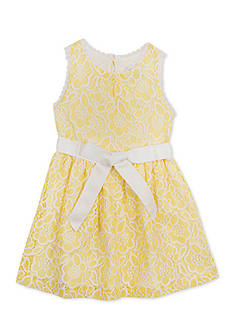 Rare Editions Sleeveless Lace Dress Girls 4-6x