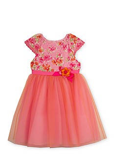 Rare Editions Floral Lace Ballerina Dress Girls 4-6x