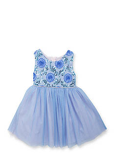 Rare Editions Two Tone Soutache Dress Girls 4-6x