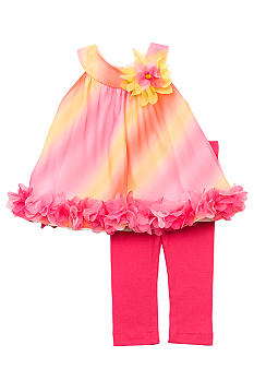 Rare Editions Ombre Chiffon Set Girls 4-6X