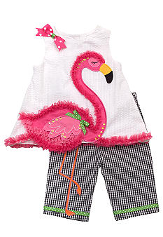 Rare Editions Flamingo Set Girls 4-6X
