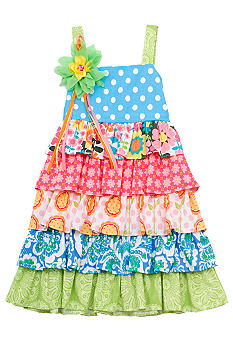 Rare Editions Mixed Tiered Dress Girls 4-6X