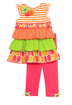 Rare Editions Tiered Top Set Girls 4-6x