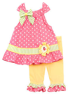 Rare Editions Dot Capri Set Girls 4-6X