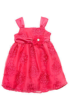 Rare Editions Fuchsia Soutach Dress Girls 4-6x